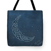 The Knotty Moon Tote Bag