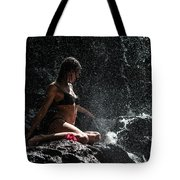 Knowledge. Anna At Eureka Waterfalls. Mauritius Tote Bag