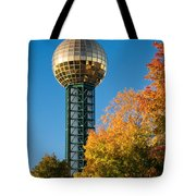 Knoxville Sunsphere In Autumn Tote Bag