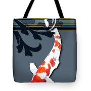 Kohaku Koi With Decorative Flourish Tote Bag