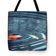 Koi And Sky Reflection Tote Bag