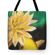 Koi And The Lotus Flower Tote Bag