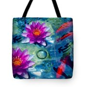 Koi And The Water Lilies Tote Bag