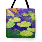 Koi Fish Under The Lilly Pads  Tote Bag by Jon Neidert