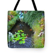 Koi Fountain Tote Bag