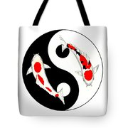 Koi Kohaku And Taisho Sanke Yin Yang Painting Tote Bag