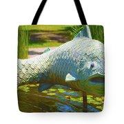 Koi Pond Fish Santa Barbara Tote Bag by Barbara Snyder