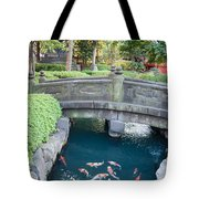 Koi Pond In Senso-ji Temple Grounds Tote Bag