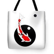 Koi Sanke Circles Nishikoi Painting Tote Bag