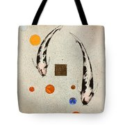 Koi Universe Utsuri Mono Painting Tote Bag