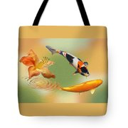 Koi With Azalea Ripples Dreamscape Tote Bag