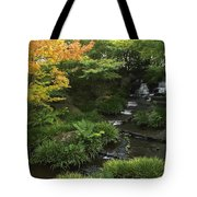 Kokoen Garden Waterfall - Himeji Japan Tote Bag by Daniel Hagerman