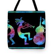 Kokopelli Jazz Trio Tote Bag