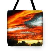 Kona Sunset 77 Lava In The Sky  Tote Bag