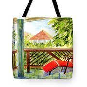 Kona View From The Deck Tote Bag