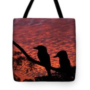 Kookaburras At Sunset Tote Bag