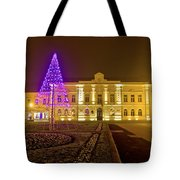 Koprivnica Night Street Christmas Scene Tote Bag