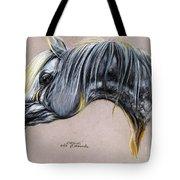 Kordelas Polish Arabian Horse Soft Pastel Tote Bag
