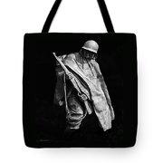 Korean War Veterans Memorial Rifleman Tote Bag