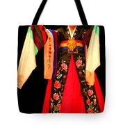 Korean Woman Dancer Tote Bag