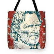 Kris Kristofferson Pop Art Tote Bag