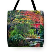 Kubota Gardens In Autumn Tote Bag
