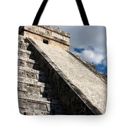 Kukulkan Pyramid Shadows Tote Bag