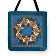 Kurbits Wreath Blue Tote Bag