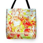 Kurt Cobain Live Concert - Watercolor Portrait Tote Bag