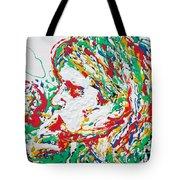 Kurt Cobain Smoking -portrait-enamels On Canvas Tote Bag