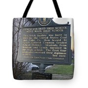 Ky-2109 Lynch Colored High School West Main High School Tote Bag