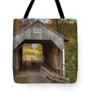Ky Hillsboro Or Grange City Covered Bridge Tote Bag