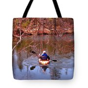 Kyaking On A Lake In Spring Tote Bag