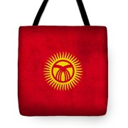 Kyrgyzstan Flag Vintage Distressed Finish Tote Bag