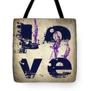 L O V E Crumbling Tote Bag