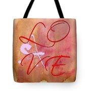 L O V E Script With Heart Tote Bag