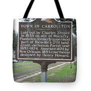 La-007 Town Of Carrollton Tote Bag