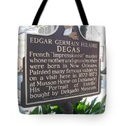 La-012 Edgar Germain Hilaire Degas Tote Bag