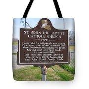 La-024 St John The Baptist Catholic Church 1770 Tote Bag