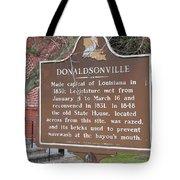 La-032 Donaldsonville Tote Bag