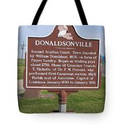 La-033 Donaldsonville Tote Bag