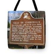 La-036 Ville De Thibodaux Tote Bag