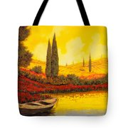 La Barca Al Tramonto Tote Bag by Guido Borelli