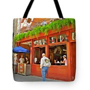 La Cage Aux Sports In Old Montreal-quebec Tote Bag