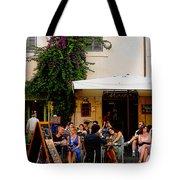 La Dolce Vita At A Cafe In Italy Tote Bag