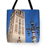 La Giralda Cathedral Tower In Seville Tote Bag