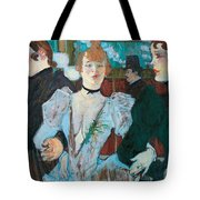 La Goulue Arriving At Moulin Rouge With Two Women Tote Bag