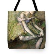 La Jupe Verte Tote Bag by Edgar Degas