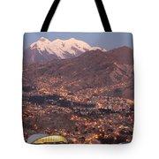 La Paz Skyline At Sundown Tote Bag