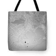 La Paz  Street Map - La Paz Bolivia Road Map Art On Colored Back Tote Bag